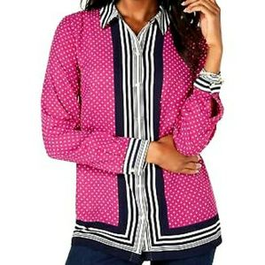 Charter Club Autumn Berry Comb Blouse WT-2